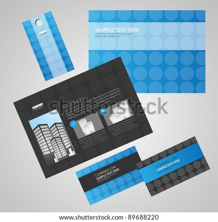identity kit with web page design - stock vector