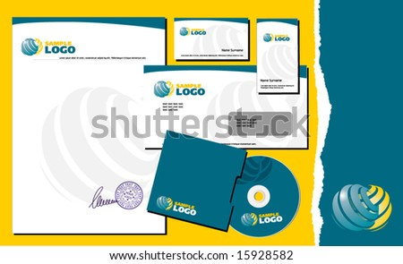 identity template - stock vector