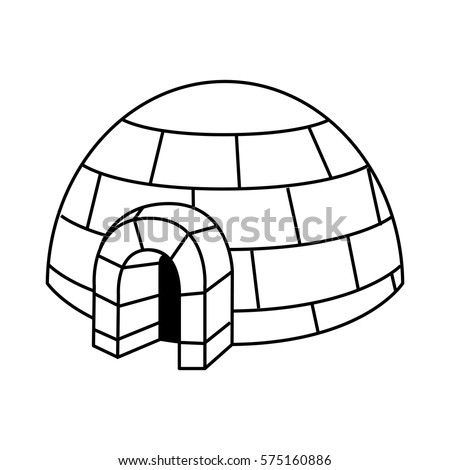 Igloo drawing stock vector 53080954 shutterstock - Coloriage igloo ...