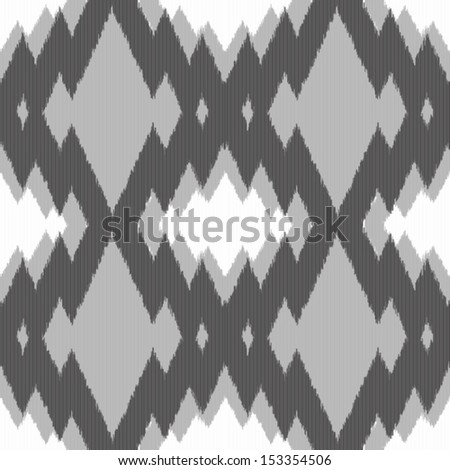 Ikat gray zigzag seamless pattern for web design or home decor - stock vector