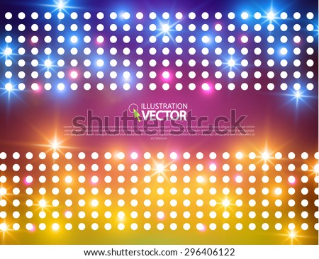Illuminated background. Shining & colorful design. Vector illustration - stock vector