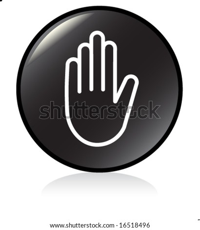 illuminated sign - BLACK version - stop symbol - stock vector