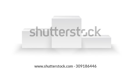 illuminated winners podium isolated on grey background made in vector - stock vector