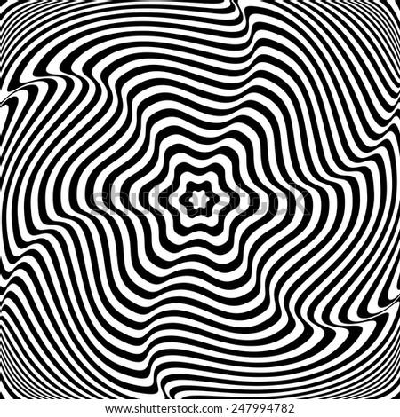 Illusion of  rotation movement. Abstract op art illustration. Vector art. - stock vector