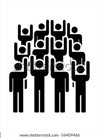 Illustrate group  people   VECTOR