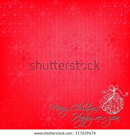 Illustrated background for Christmas  - vector illustration - stock vector