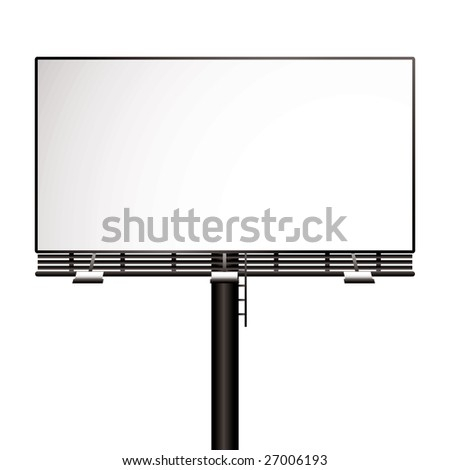 Illustrated billboard with room to add your own advert