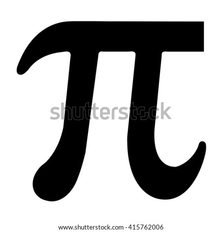 Illustrated black Pi symbol - stock vector