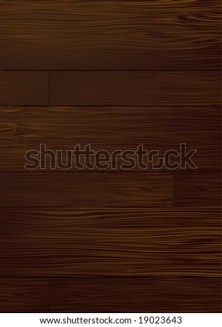 Illustrated dark piece of wood that would make an ideal background - stock vector