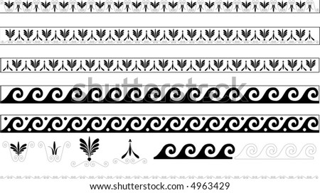 illustrated decorative designs, ornaments and icons - stock vector