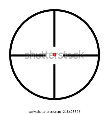 Illustrated Isolated crosshairs on white background - stock vector