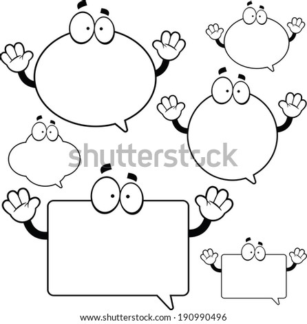 Illustrated set of funny cartoon word bubbles.  - stock vector