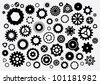 Illustrated vector Cogs - stock photo