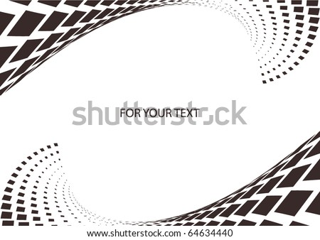 Illustrated wave dotted design - stock vector