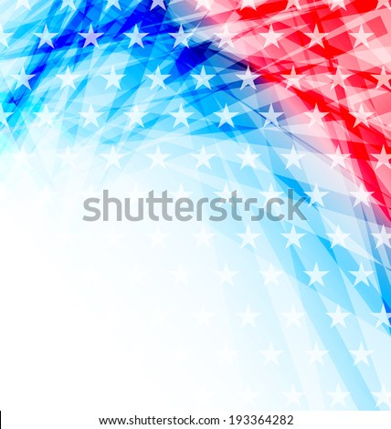 Illustration abstract American Flag for Independence Day - vector - stock vector