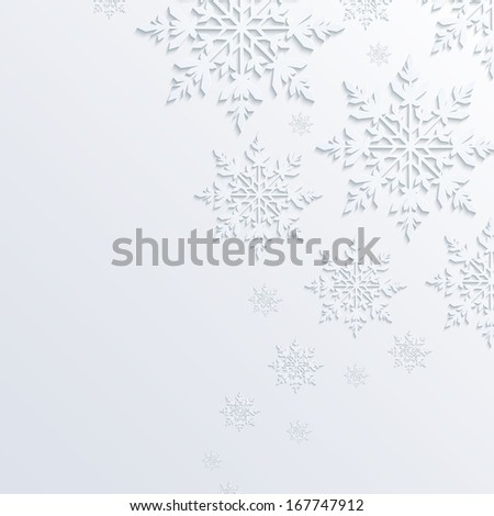 Illustration abstract snowflake background