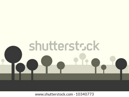illustration background abstract tree design graphic vector landscape - stock vector