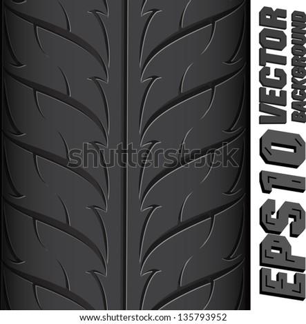Illustration background pattern of black tire. - stock vector