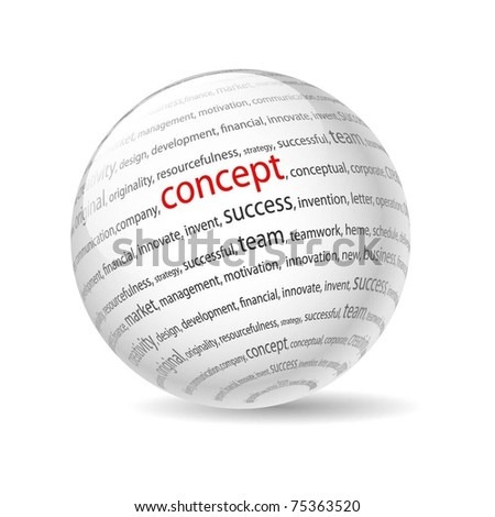 Illustration  ball with inscription concept, on a white background. Vector. - stock vector
