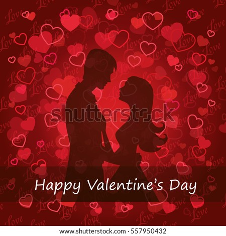 Illustration black silhouette of lovers embracing on a white background Couple in love Illustration of man and woman lovers Valentine Day