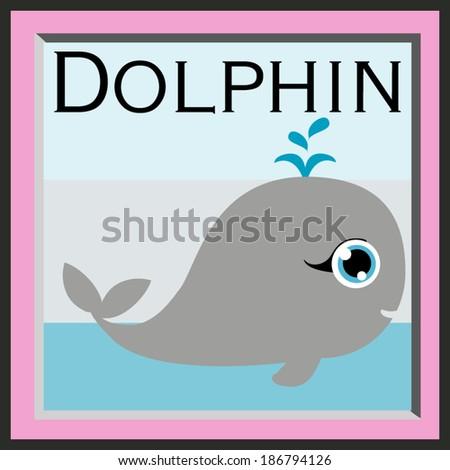 illustration cartoon dolphin vector file - stock vector