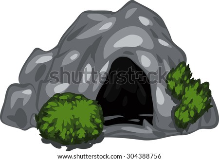 illustration cave - stock vector