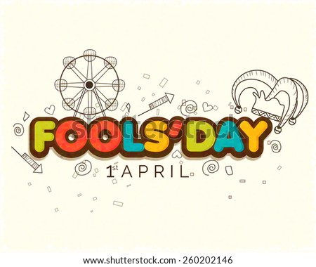 Illustration Celebrating April Fools' Day. - stock vector