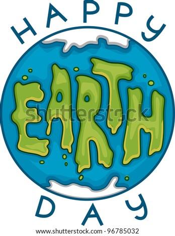 Illustration Celebrating Earth Day - stock vector