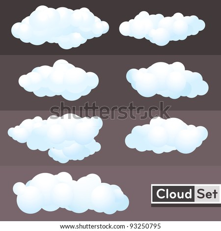 illustration Clouds Set - stock vector