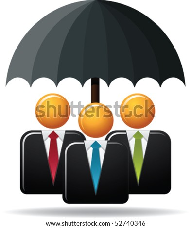 Illustration concept of business protection - stock vector