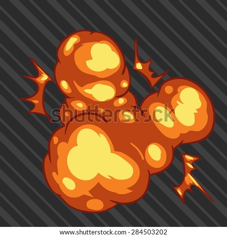 illustration 2d explosion. - stock vector