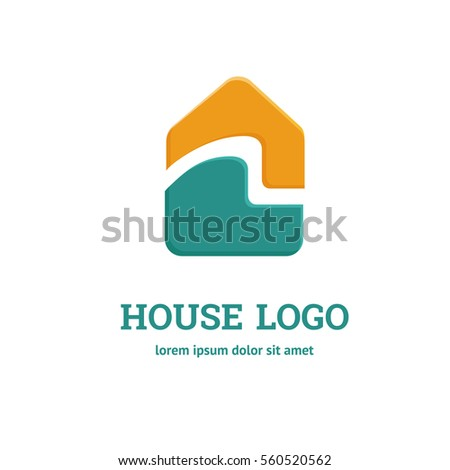 Vector sign number 3 logo stock vector 442454248 for Minimalist house logo