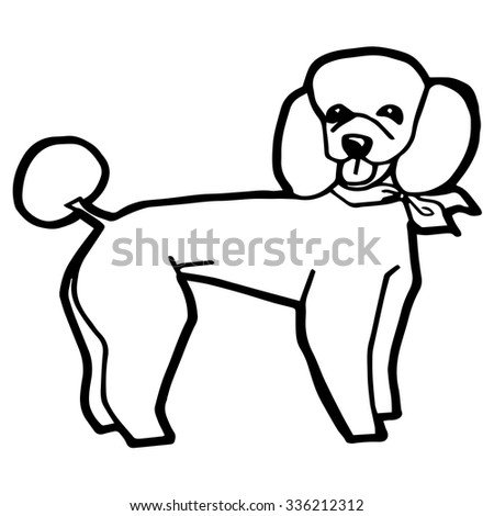 Illustration Dog for Coloring Book