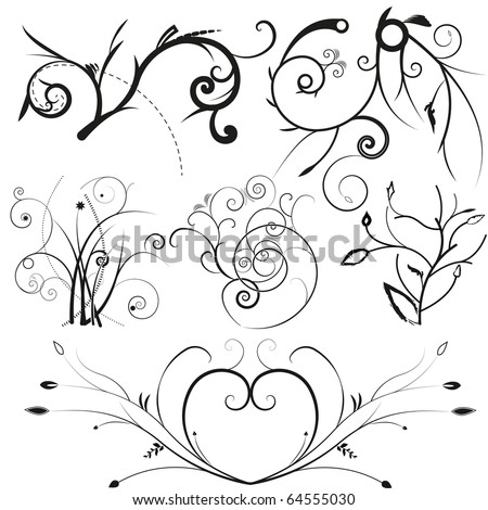 illustration drawing of floral frame vector format. EPS 8. - stock vector