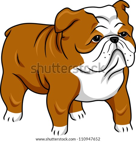 Cute english bulldog cartoon - photo#15