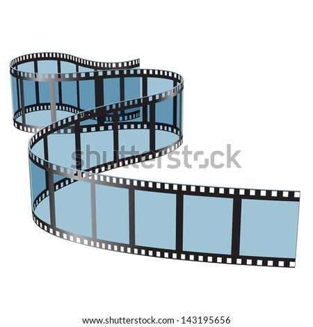 Illustration film on white background. Vector. - stock vector