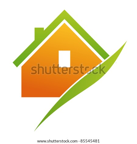 Illustration for housing, with new energies - stock vector