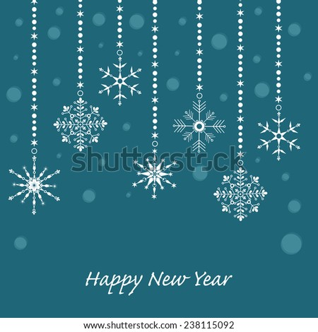 Illustration for Merry Christmas and Happy New Year background design - stock vector