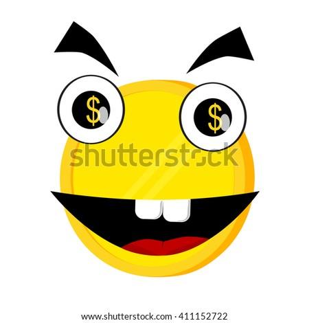 Illustration for Money Grubber   - stock vector