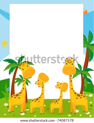 illustration frame by giraffe