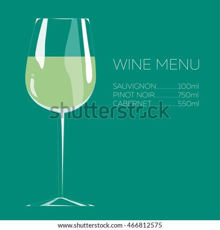 Illustration Hand Drawing White Wine Menu Stock Vector HD (Royalty ...