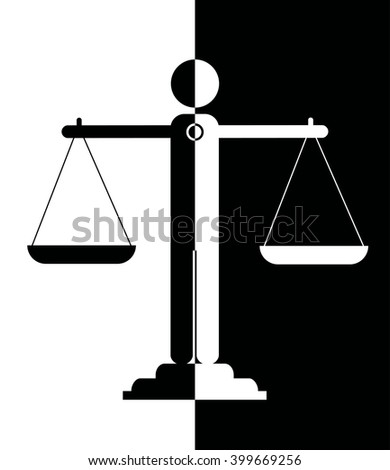 illustration icon of justice scales