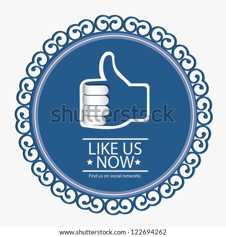 Illustration icon social networks,icons, vector illustration - stock vector