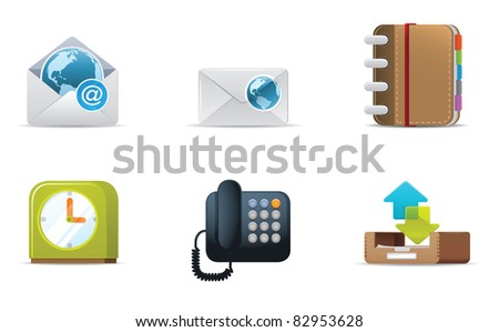 Illustration icons for Web and Communication - stock vector