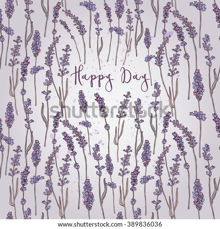 illustration lavender flower/Spring lavender flower/Greeting card lavender flower/Summer composition lavender flower/Spring lavender flower/Garden lavender