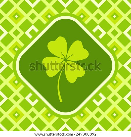 illustration of a banner with clover - stock vector