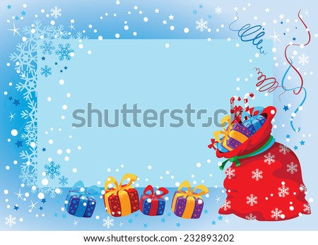 illustration of a banner with gifts - stock vector