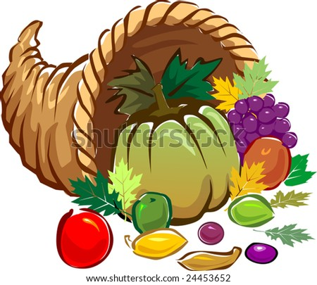 Illustration of a basket of vegetables - stock vector