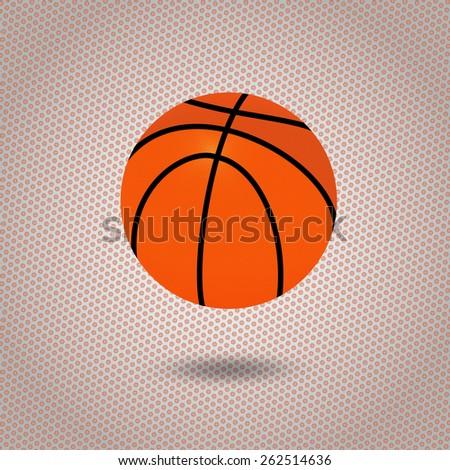 illustration of a basketball ball  - stock vector