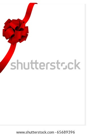 Illustration of a beautiful red glossy bow - stock vector
